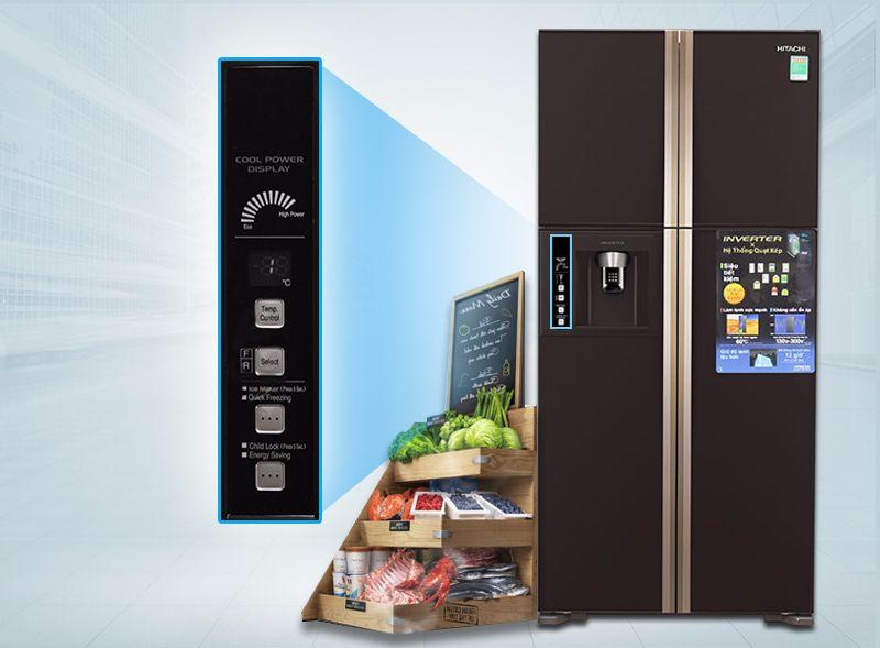 Giới thiệu tủ lạnh Hitachi R-W660PGV3 GBK
