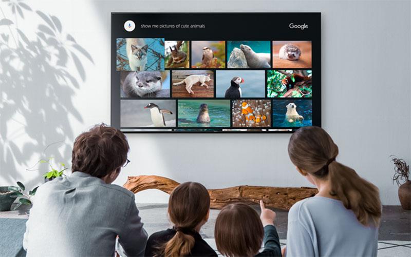 Android tivi Sony với nhiều ứng dụng giải trí hấp dẫn