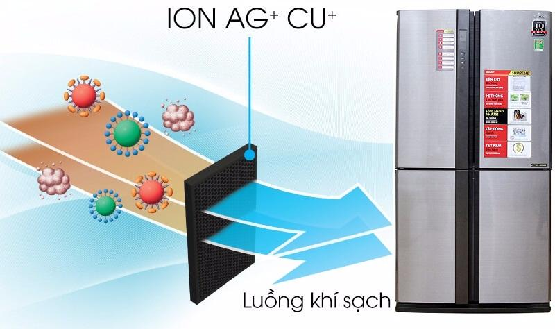SJ-FX680V-ST - Bộ lọc khử mùi Nano phân tử bạc và đồng khử sạch vi khuẩn, mùi hôi
