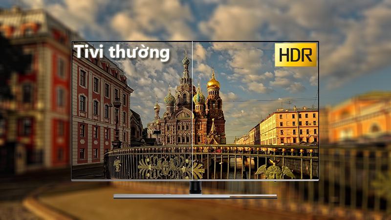 công nghệ HDR Smart Tivi Samsung 4K 75 inch UA75NU8000