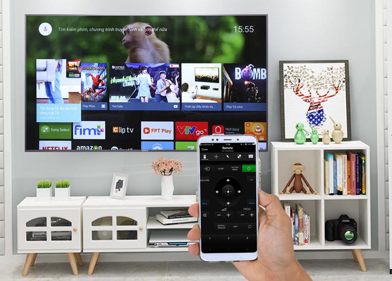 Điều khiển Android Tivi Sony 4K 65 inch KD-65X9000F bằng điện thoại