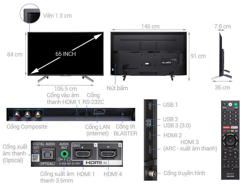 Tivi Sony KD-65X7500F