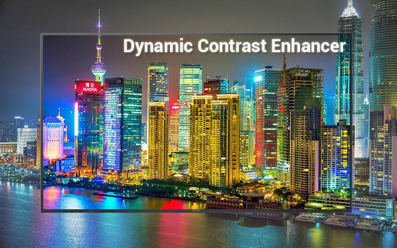 Công nghệ Dynamic Contrast Enhancer trên Android Tivi Sony 4K 65 inch KD-65X7500F