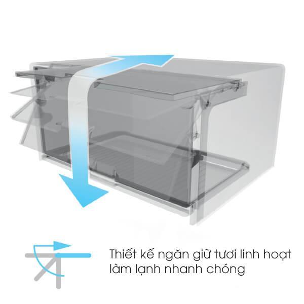 tủ lạnh Sharp SJ-X281E-SL