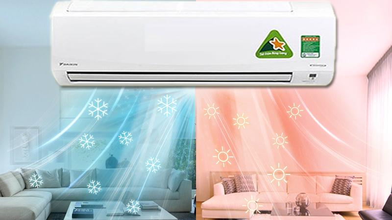 Máy lạnh 2 chiều vừa làm mát, vừa sưởi ấm hiệu quả