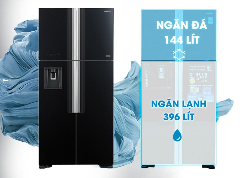 Dung tích 540 lít - Tủ lạnh Hitachi Inverter 540 lít R-FW690PGV7X GBK