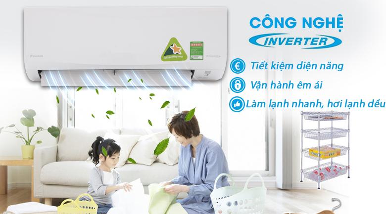 Công nghệ Inverter - Máy lạnh Daikin Inverter 2.5 HP FTKQ60SVMV