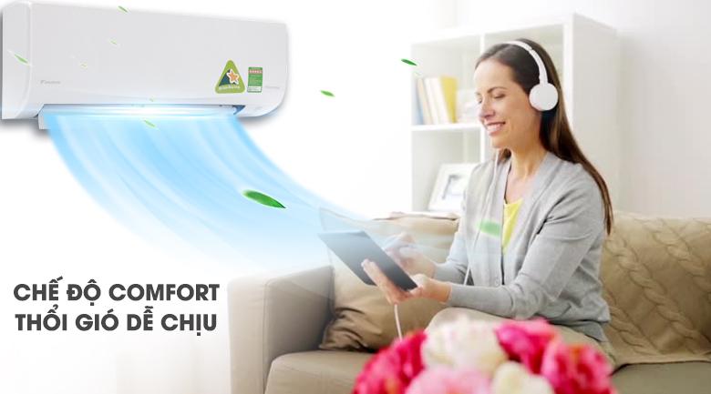 Chế độ gió dễ chịu - Máy lạnh Daikin Inverter 2.5 HP FTKQ60SVMV