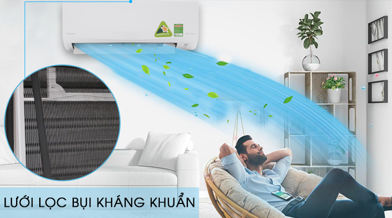 Tấm vi lọc bụi - Máy lạnh Daikin Inverter 2.5 HP FTKQ60SVMV