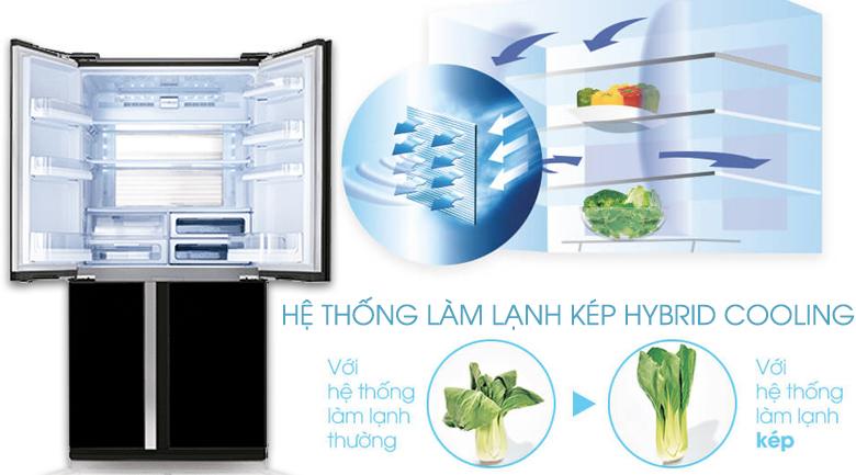 Tủ lạnh Sharp 4 cánh - Hệ thống làm lạnh Hybrid Cooling