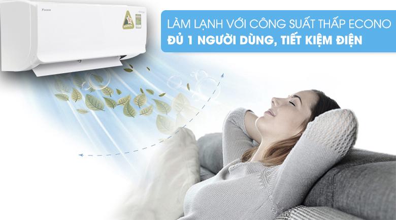 Chế độ làm lạnh nhanh Powerful - Điều hòa 2 chiều Daikin Inverter 11900 BTU FTHF35RAVMV