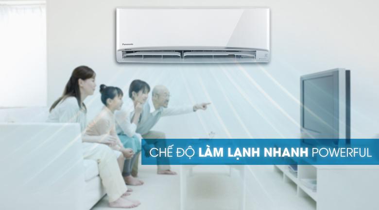 Chế độ àm lạnh nhanh Power full - Máy lạnh 2 chiều Panasonic 2 HP CU/CS-YZ18UKH-8