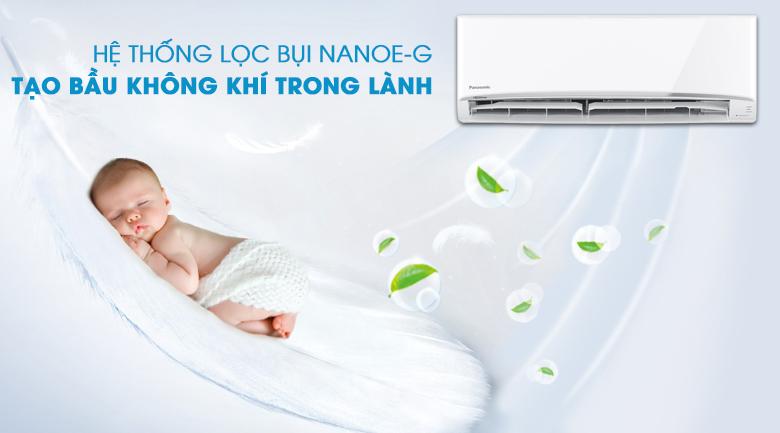 Lọc bụi Nanoe-G - Máy lạnh 2 chiều Panasonic 2 HP CU/CS-YZ18UKH-8