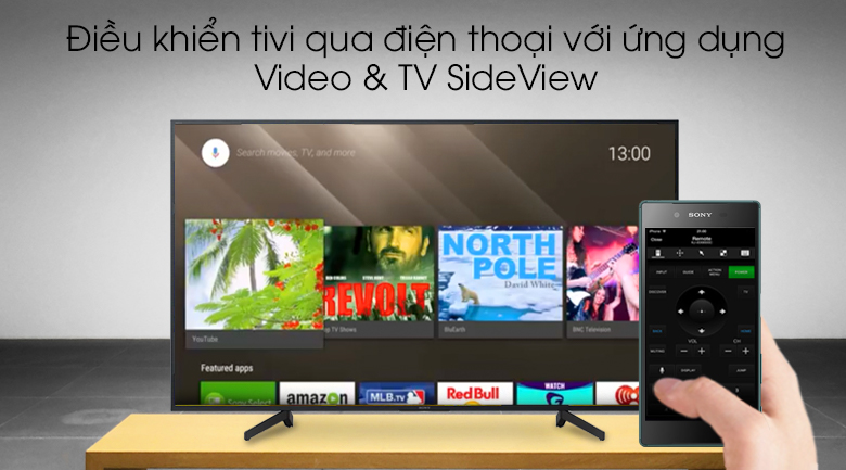 Android Tivi Sony 4K 43 inch KD-49X8000G - Video & TV SideView