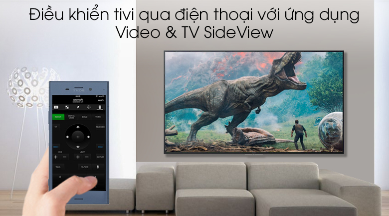 Smart Tivi Sony 4K 55 inch KD-55X7000G - Video & TV SideView