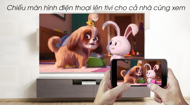 Android Tivi Sony 4K 65 inch KD-65X8500G/S - Chiếu màn hình điện thoại