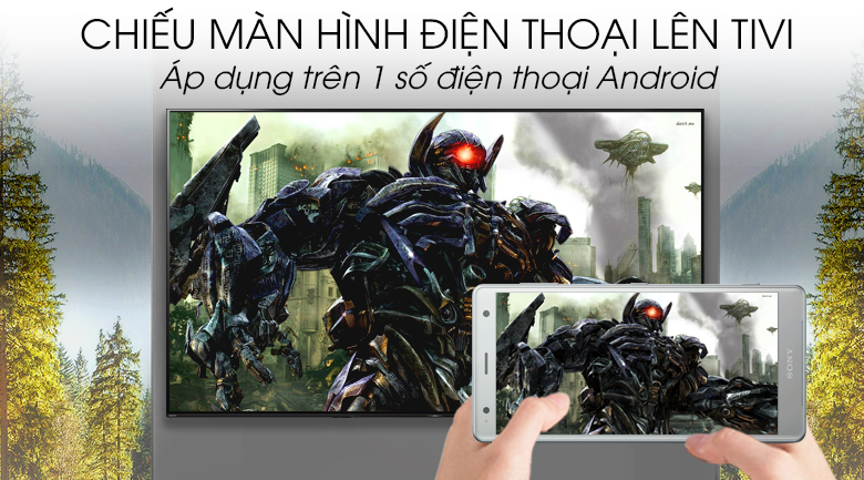 Android Tivi OLED Sony 4K 65 inch KD-65A8G - Screen Mirroring