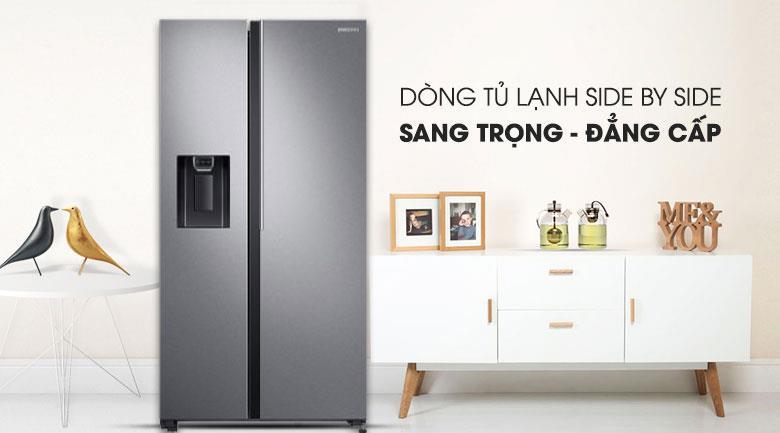 Samsung RS64R5101SL/SV - Tủ lạnh side by side sang trọng, hiện đại