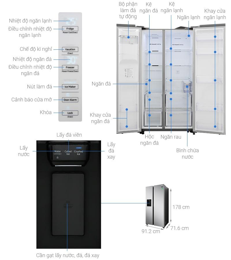 Thông tin: Tủ lạnh Samsung RS64R5101SL/SV Inverter 617 lít