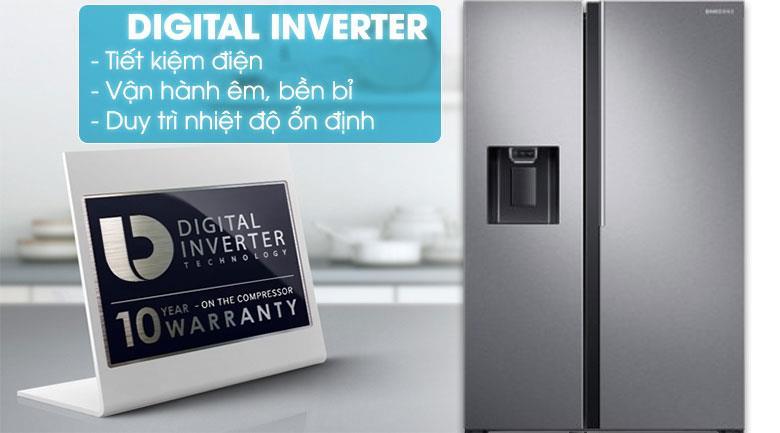 Tủ lạnh Samsung side by side - Tích hợp công nghệ Inverter giúp tiết kiệm điện, hoạt động bền bỉ lâu dài