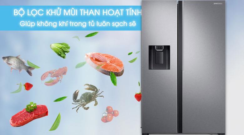 Tủ lạnh Samsung inverter - Lọc sạch không khí trong tủ với bộ lọc than hoạt tính