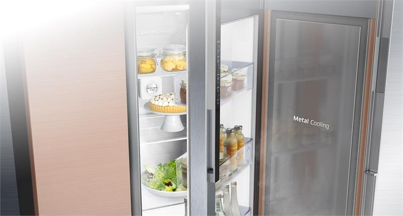 Tủ lạnh side by side - Duy trì ổn định nhiệt độ tủ lạnh tốt hơn với tấm chắn nhiệt Metal Cooling