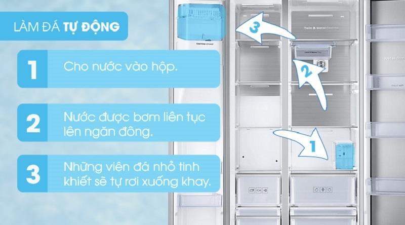 Làm đá tự động tiện lợi - Tủ lạnh Samsung 617 lít