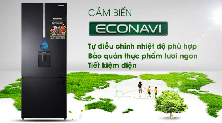 Econavi Tủ lạnh Panasonic Inverter 410 lít NR-BX460WKVN