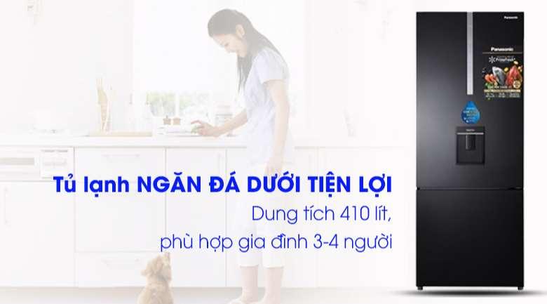 Thiết kế Tủ lạnh Panasonic Inverter 410 lít NR-BX460WKVN