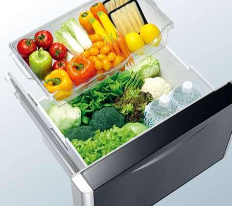 Tủ lạnh Hitachi 3 ngăn - Ngăn Chứa Rau Quả Riêng Biệt