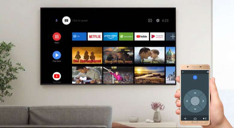 Android Tivi Sony 4K 65 inch KD-65X8000H - ứng dụng Android TV