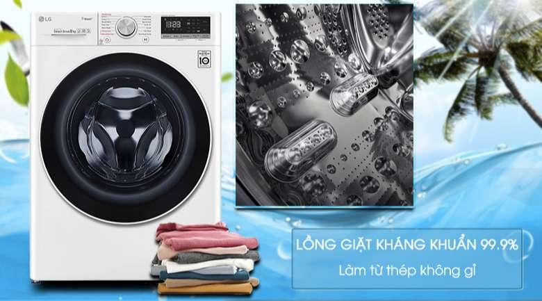 Máy giặt sấy LG Inverter 8.5 kg FV1408G4W | Lồng giặt