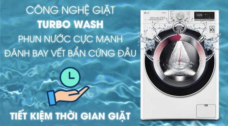 Máy giặt sấy LG Inverter 8.5 kg FV1408G4W | Turbo Wash