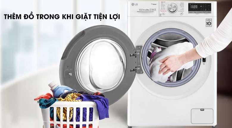 Máy giặt sấy LG Inverter 8.5 kg FV1408G4W | Add Item