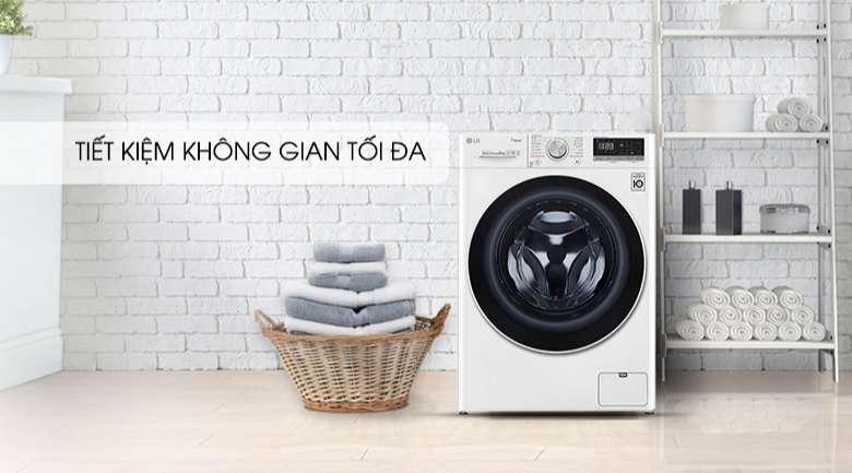 Máy giặt sấy LG Inverter 8.5 kg FV1408G4W | Tiết kiệm không gian