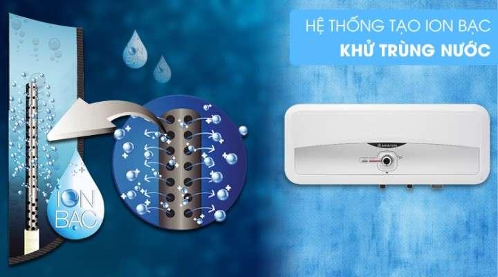 Hệ thống tạo Ion Bạc khử trùng, mang lại nguồn nước nóng sạch khuẩn