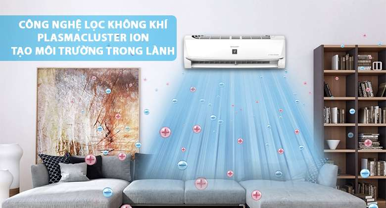 Plasmacluster ion - Máy lạnh Sharp Inverter 1 HP AH-XP10WMW