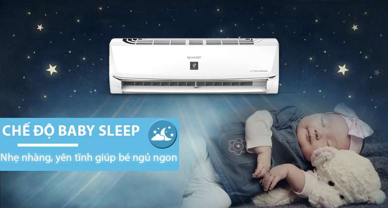 Baby Sleep - Máy lạnh Sharp Inverter 1 HP AH-XP10WMW