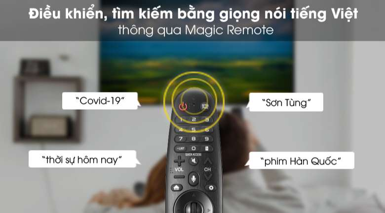 Magic Remote - Smart Tivi NanoCell LG 4K 43 inch 43NANO79TND