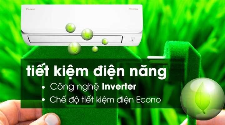 Tiết kiệm điện hiệu quả nhờ công nghệ Inverter