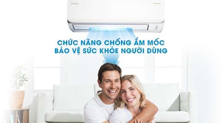 Bảo vệ sức khỏe người dùng nhờ chức năng chống ẩm mốc