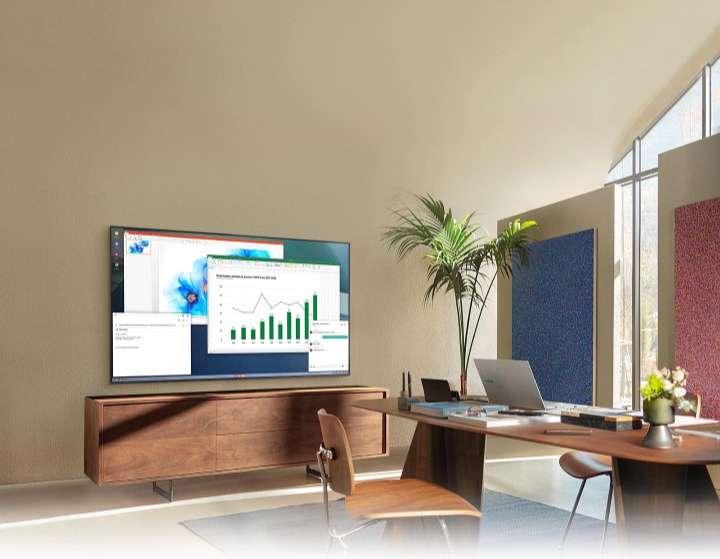 Smart Tivi Samsung 4K 43 inch UA43AU7000 - Kết nối máy tính