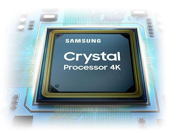 Smart Tivi Samsung 4K 43 inch UA43AU7000 - Bộ xử lý Crystal 4K