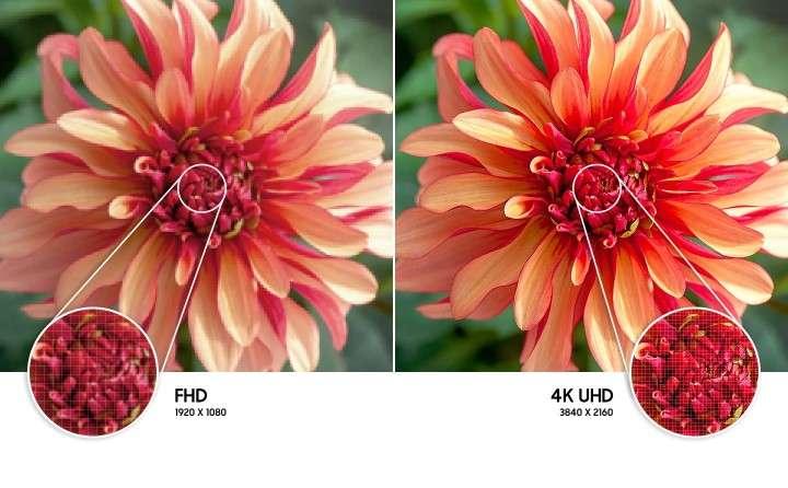 Smart Tivi Samsung 4K 43 inch UA43AU7000 - Độ phân giải 4K