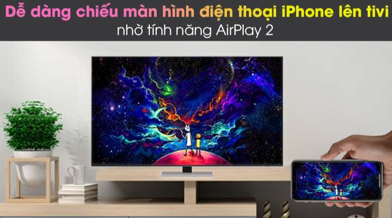 Airplay 2 và Tap View - Smart Tivi Neo QLED 4K 75 inch Samsung QA75QN85A