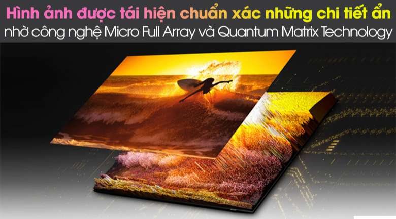 Micro Full Array với Quantum Matrix Technology - Smart Tivi Neo QLED 4K 75 inch Samsung QA75QN85A
