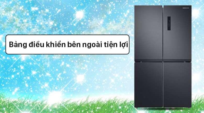 Tủ lạnh Samsung Inverter 488 lít RF48A4000B4/SV - Bảng điều khiển nhiệt độ tiện lợi