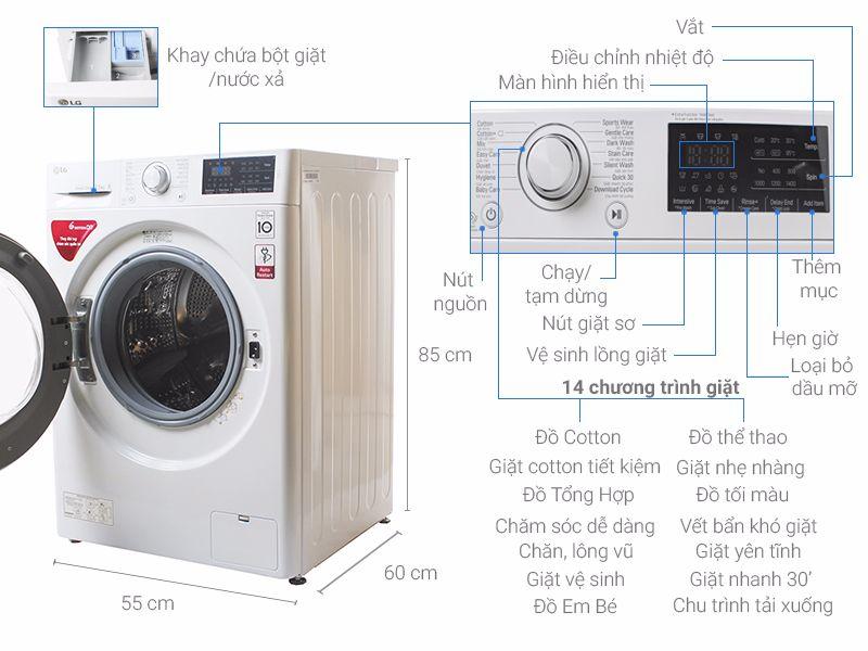 Máy giặt LG FC1475N5W2 Inverter 7.5 kg