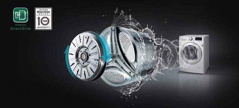 Công nghệ giặt trên máy giặt LG lồng ngang