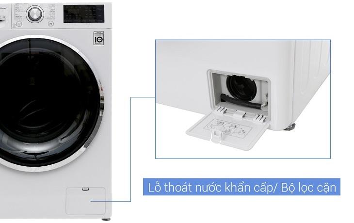Bộ lọc cặn giúp giữ lại xơ vải trong quá trình giặt